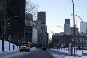 Le centreville de Montréal, rue Saint-Antoine