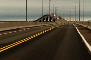 Le pont de la Confédération qui relie le Noiuveau-Brunswick à l\'île du Prince Édouard