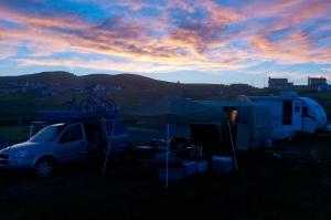 Notre emplacementau montage au camping Belle-Plage