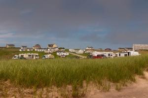 Au matin nous découvrons un endroit enchanteur, ici le camping Belle Plage