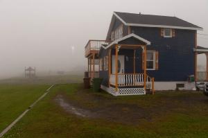 Vue de côté sous la brume