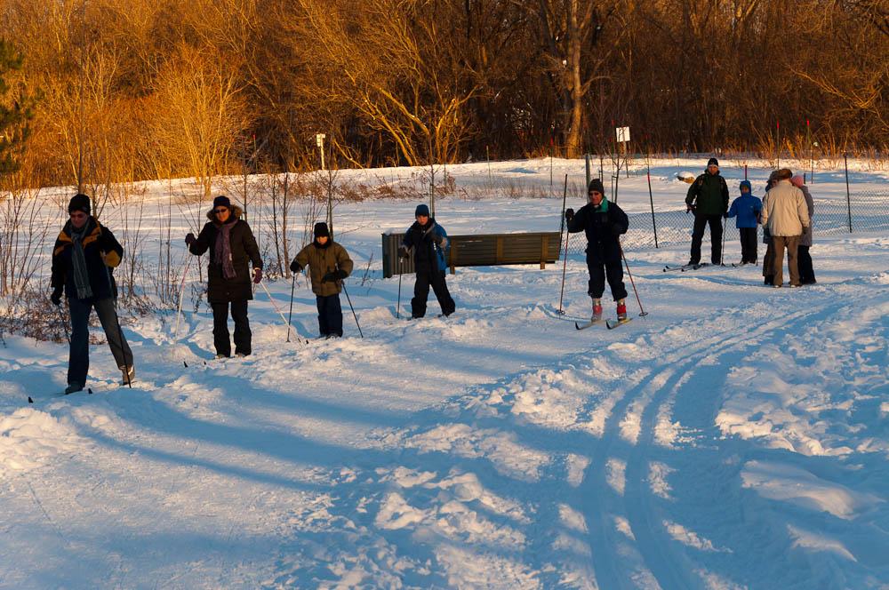 Le ski de fond en famille sur la piste