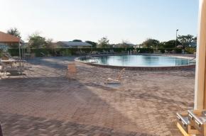 Une des piscines extérieures